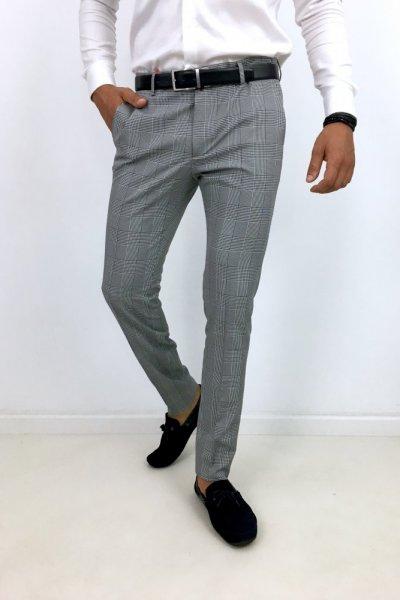 Spodnie materiałowe w kratę H27