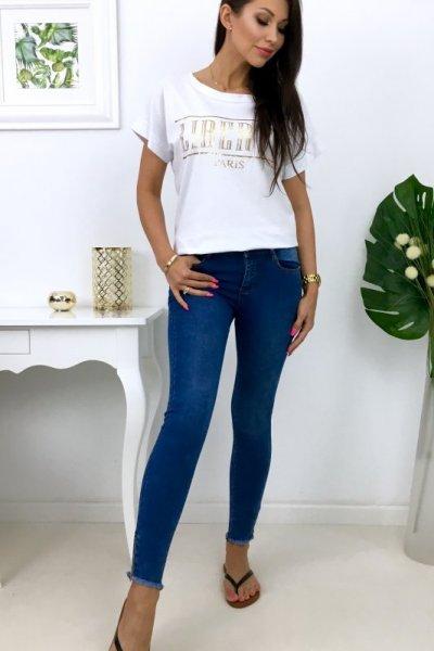 Spodnie jeansy + suwaczki ( LAU J976 ) - blue