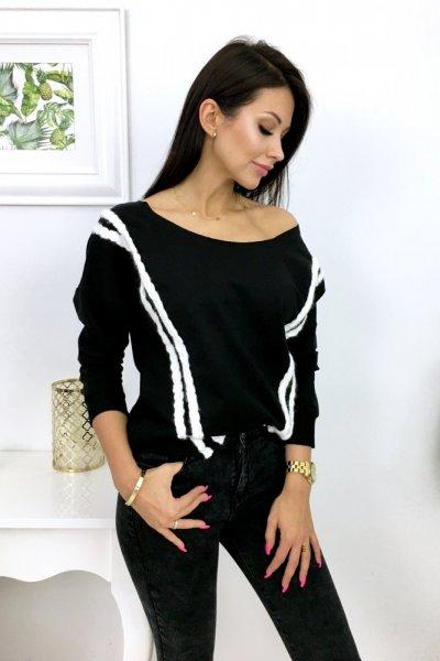 Bluza z warkoczem - czarna
