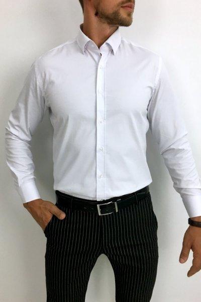 Koszula męska biała klasyczna H1