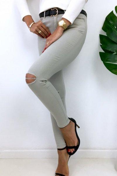 Spodnie/jeansy skinny - grey
