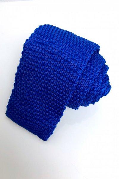 Krawat typu knit błękitny