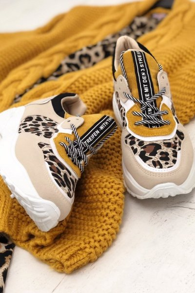 Adidasy ANIMAL - yellow/beige