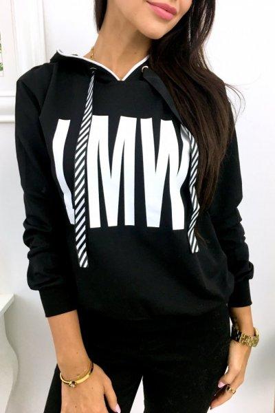Bluza damska z kapturem MLW - black