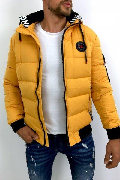 Kurtka męska zimowa żółta D-99861-1