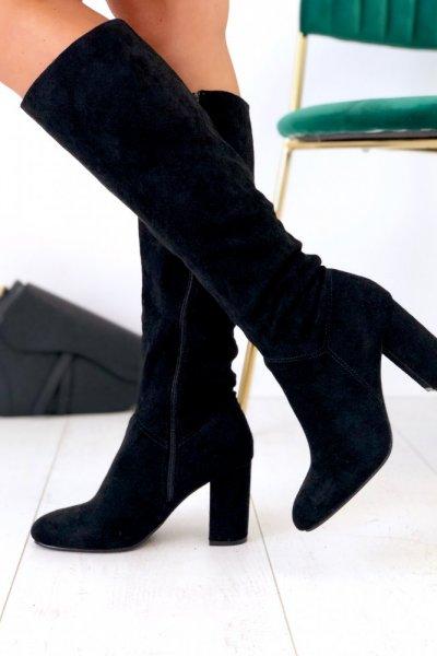 Kozaki przed kolano - black