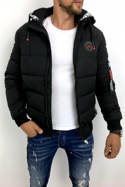 Męska kurtka zimowa czarna D-99861-1