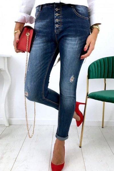 Spodnie jeansy + szelki