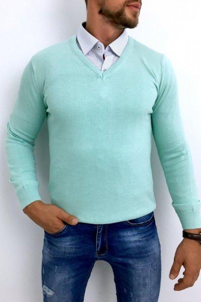 Sweter miętowy Huzar