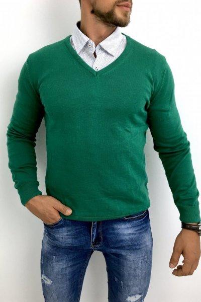 Sweter zielony Huzar