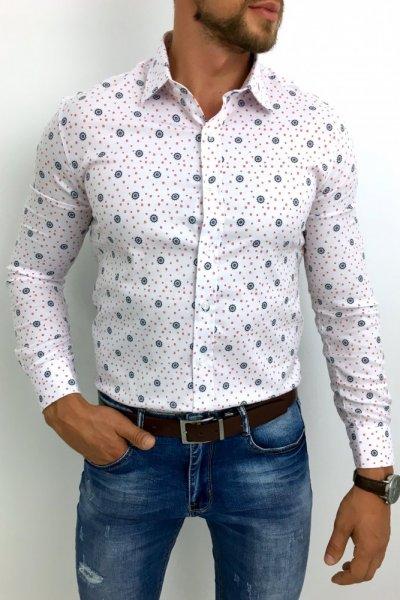 Koszula męska biała wzór H1