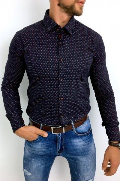 Koszula męska bordo wzór H4