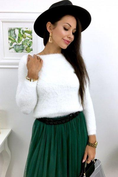 Sweterek SHORT - white