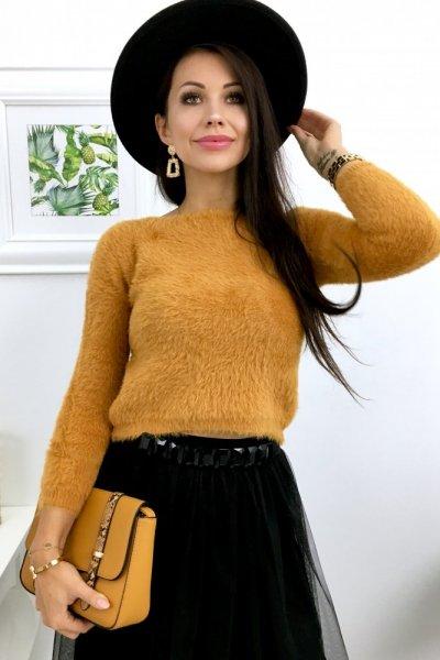 Sweterek SHORT - yellow
