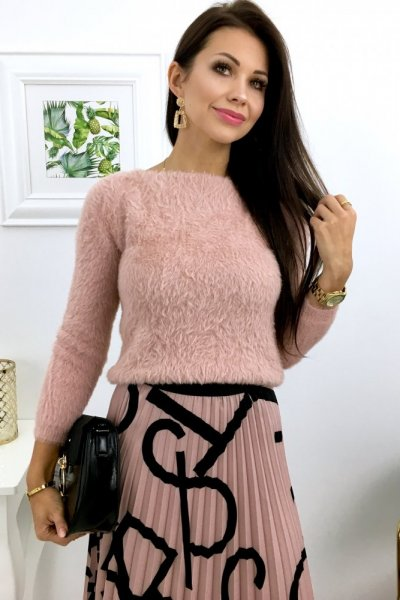 Sweterek SHORT - pink