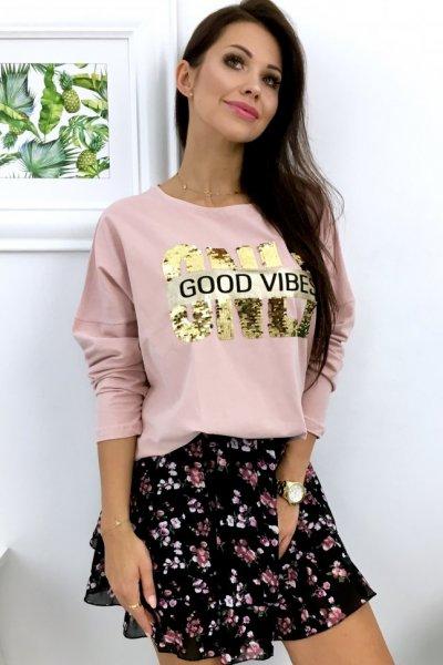 Bluza GOOD VIBES - pink