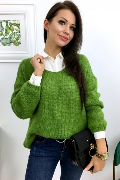 Sweter MOLLY - zielony