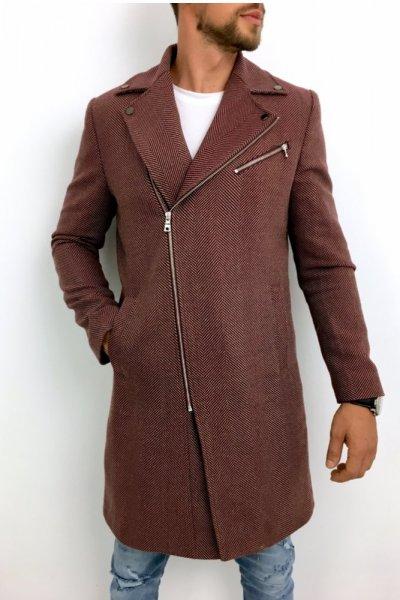 Płaszcz męski bordo wzór H10