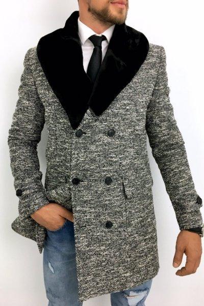 Płaszcz męski dwurzędowy wzór H5