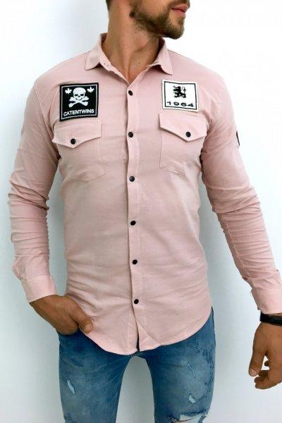 Koszula męska różowa