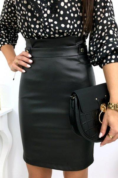 Spódnica WOSK ołówkowa - black