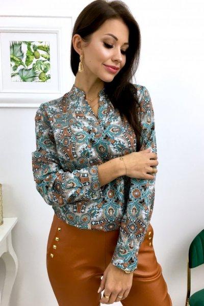 Bluzka we wzory PURRA - blue/beige