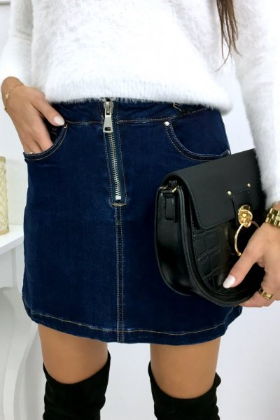 Spódnica LINA - jeans