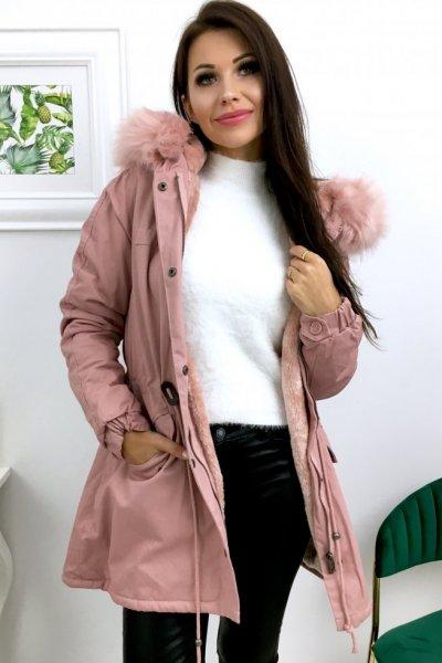 Kurtka zimowa typu parka - pink