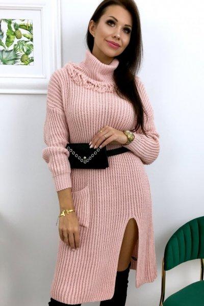 Sukienka swetrowa KELLY - pink