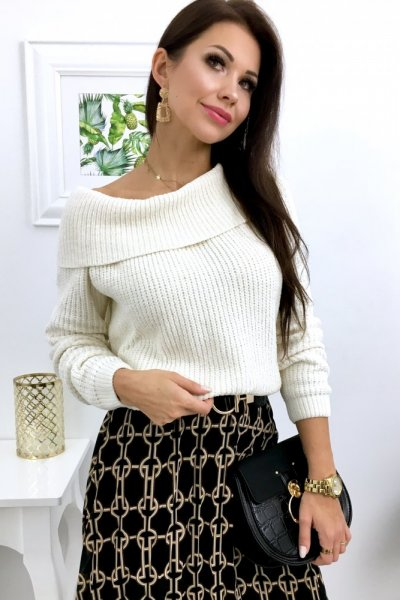 Sweter SOFTY - ecre