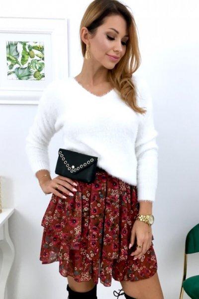 Sweterek z wiązaniem na plecach - white