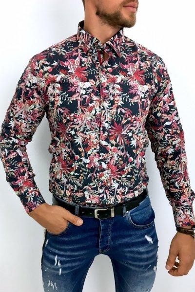 Koszula męska w kwiaty FLOWER POWER 3