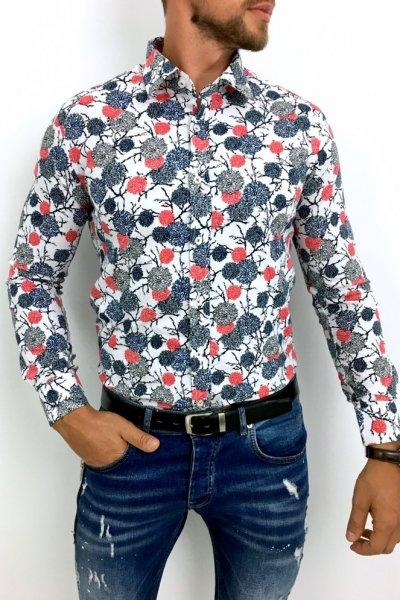 Koszula meska w kwiaty Multikolor 3
