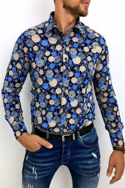 Koszula męska w kwiaty Multikolor 2