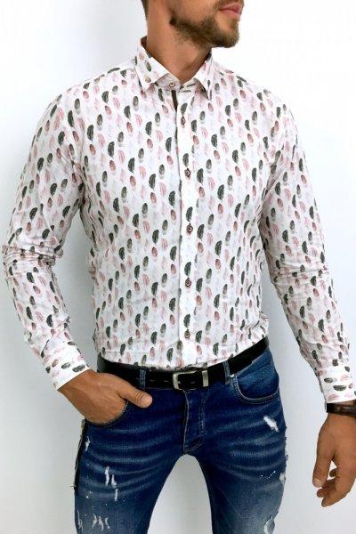 Koszula męska w pióra