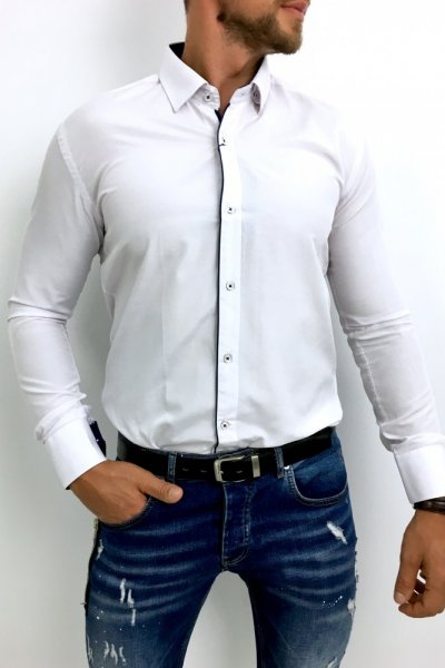 Koszula męska biała klasyczna H5