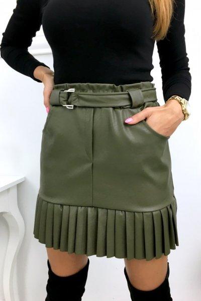 Spódnica eco a la ZARRA - khaki