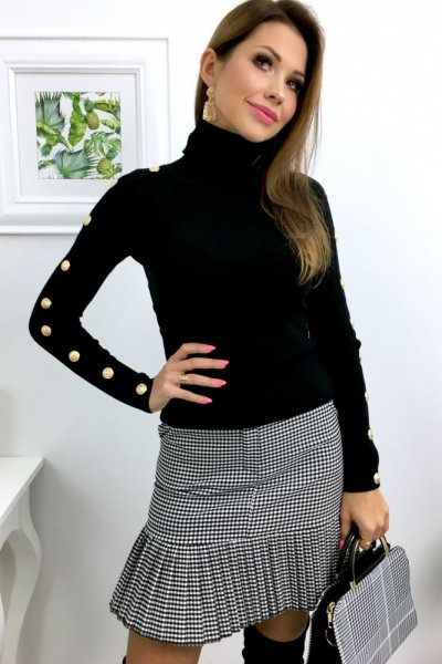 Spódnica a la ZARRA w katkę - black/white