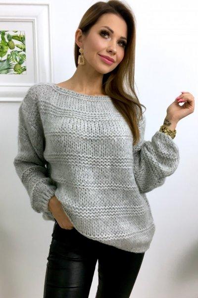 Sweter ELLE - grey