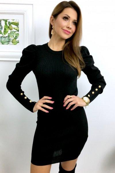Sukienka z bufiastym rękawem - black