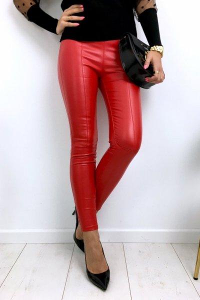 Spodnie/legginsy wosk - red