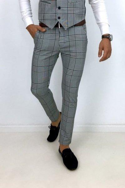 Spodnie materiałowe H8