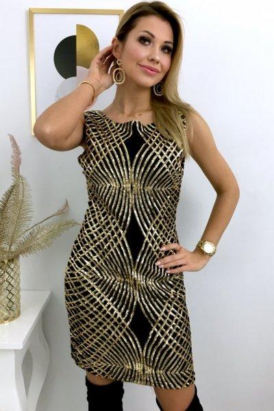 Sukienka GOLDIE - gold