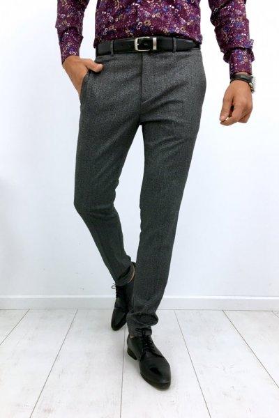 Spodnie męskie szare H12