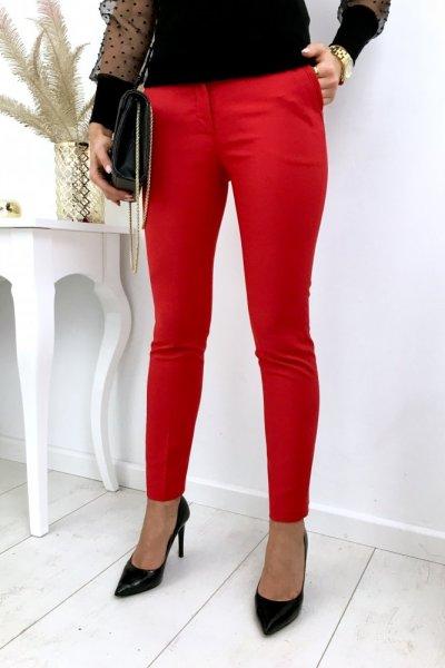 Spodnie/cygaretki w kant clasic - red