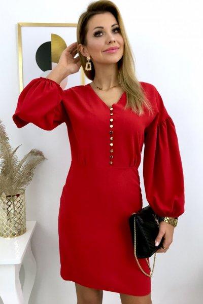 Sukienka ELEGANZA - red