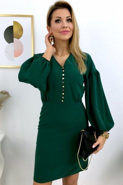 Sukienka ELEGANZA - green