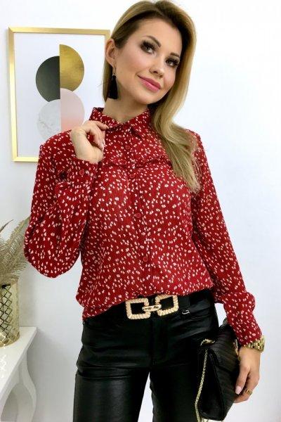 Bluzka koszulowa HEART - red