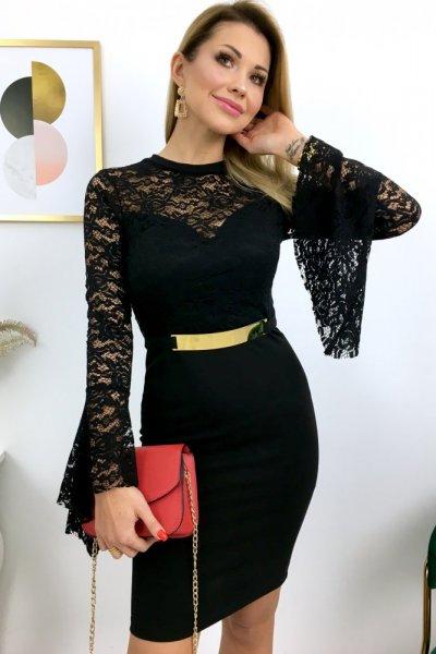 Sukienka z blaszką - black/GOLD