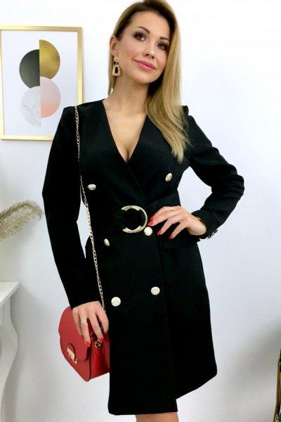 Sukienka DONNA z paskiem - black